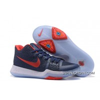 Nike Kyrie 3 Obsidian Blue/White-Red On Sale Best