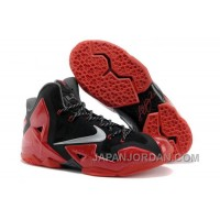 "Nike LeBron 11 ""Away"" Black/Metallic Silver-University Red-Bright Crimson-Dark Grey Free Shipping"