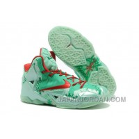 "Nike LeBron 11 ""Christmas"" Green Glow/Light Crimson-Arctic Green Discount"