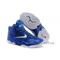 Nike LeBron James 11 Royal Blue/White For Sale Authentic