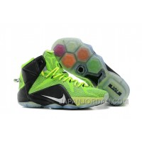 Nike LeBron 12 Neon Green/Black-Silver For Sale Cheap To Buy