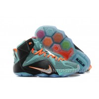 Nike LeBron 12 Teal/Orange-Black For Sale Discount