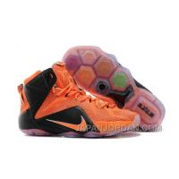Nike LeBron 12 Team Orange/Black For Sale Lastest