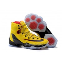 2018 Nike LeBron 13 Elite Yellow/Black-Red Super Deals
