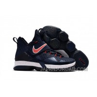Nike LeBron 14 SBR Navy Blue Red For Sale