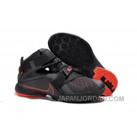 Nike LeBron Soldier 9 Black And Red Highlights Basketball Shoe Online