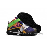 "Nike LeBron Soldier 9 ""What The LeBron"" Multi Color/Black-White Basketball Shoe Discount"