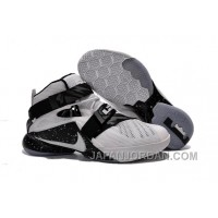 Nike LeBron Soldier 9 White Black Basketball Shoe Lastest