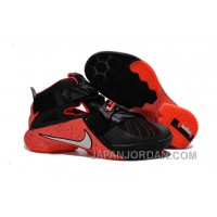 Nike LeBron Soldier 9 Black Red Basketball Shoe Free Shipping