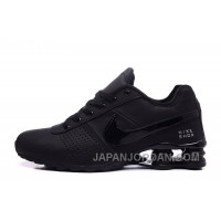 NIKE SHOX DELIVER 809 ALL BLACK WOMEN BIGGER SIZE/MEN Discount