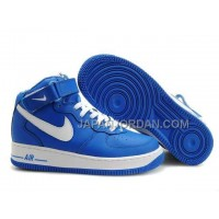 Nike Air Force 1 High Mens Blue White 割引販売