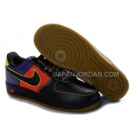 Nike Air Force 1 Low Mens Black Orange 割引販売