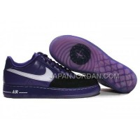 Nike Air Force 1 Low Mens Black Purple 割引販売