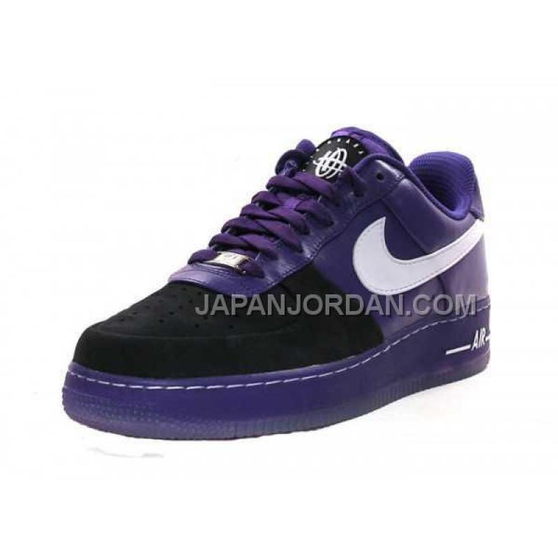 cheap for discount 2c954 52a77 purple black air force ones