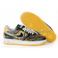 Nike Air Force 1 Low Mens Black Yellow 送料無料