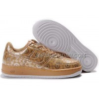 Nike Air Force 1 Low Mens Gold White 送料無料
