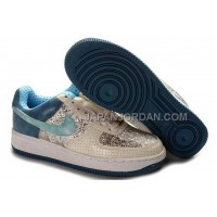 Nike Air Force 1 Low Womens Beige Blue 送料無料