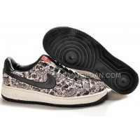 Nike Air Force 1 Low Womens Black Beige ホット販売
