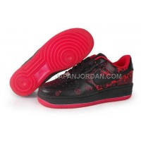 Nike Air Force 1 Low Womens Black Red ホット販売