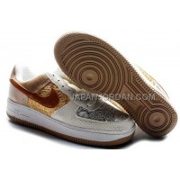 Nike Air Force 1 Low Womens Brown Gold ホット販売