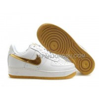 Nike Air Force 1 Low Womens Gold White ホット販売