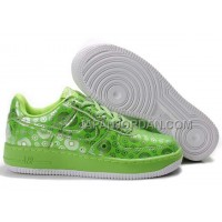 Nike Air Force 1 Low Womens Green White ホット販売