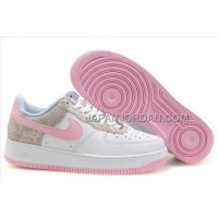 Nike Air Force 1 Low Womens Pink White ホット販売