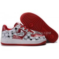 Nike Air Force 1 Low Womens Red White ホット販売