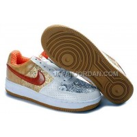 Nike Air Force 1 Low Womens White Gold ホット販売