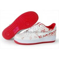 Nike Air Force 1 Low Womens White Red ホット販売