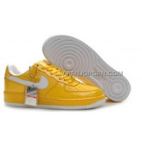 Nike Air Force 1 Low Womens Yellow White ホット販売
