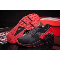 Nike Air Huarache Womens Black Red 新着