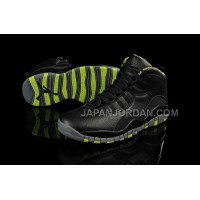 ホット販売 Nike Air Jordan 10 Mens Black Green Shoes