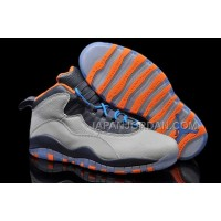 ホット販売 Nike Air Jordan 10 Mens Grey Blue Orange Shoes