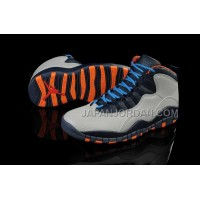 ホット販売 Nike Air Jordan 10 Mens White Blue Orange Shoes