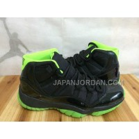 Nike Air Jordan 11 Mens Black Green Shoes 割引販売