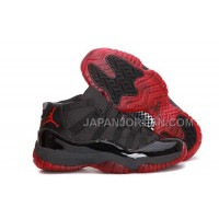 Nike Air Jordan 11 Mens Black Red Shoes 割引販売