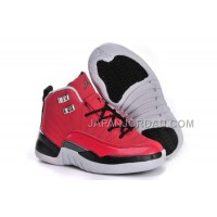 Nike Air Jordan 12 Kids Red Black White Shoes 格安特別