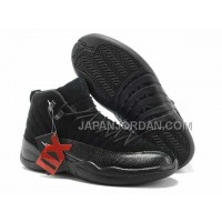 Nike Air Jordan 12 Mens Anti Fur All Black Shoes 割引販売