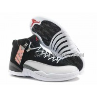 Nike Air Jordan 12 Mens Anti Fur Black White Shoes 割引販売