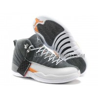 Nike Air Jordan 12 Mens Anti Fur Grey White Shoes 割引販売