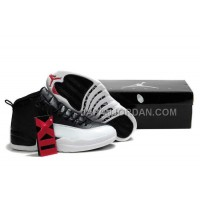 Nike Air Jordan 12 Mens Black White Shoes 割引販売