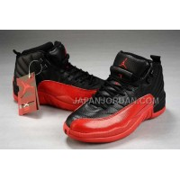 割引販売 Nike Air Jordan 12 Womens Black Red Shoes