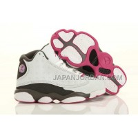 Nike Air Jordan 13 Kids White Grey Pink Shoes 格安特別