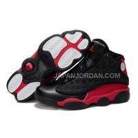 ホット販売 Nike Air Jordan 13 Mens Grain Leather Black Red Shoes