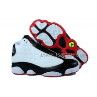ホット販売 Nike Air Jordan 13 Mens Grain Leather White Black Red Shoes