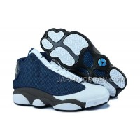 ホット販売 Nike Air Jordan 13 Mens Navy Blue Grey White Shoes