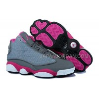 格安特別 Nike Air Jordan 13 Womens Grey White Pink Shoes