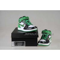 Nike Air Jordan 1 Kids White Black Green Shoes 格安特別