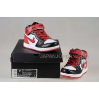 Nike Air Jordan 1 Kids White Black Red Shoes 格安特別